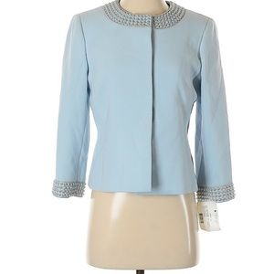 Tahari blue jacket new with tags